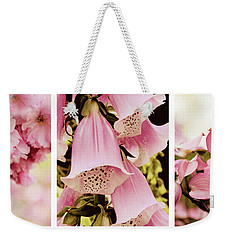 Weekender Tote Bag featuring the photograph Spring Assemblage Triptych by Jessica Jenney