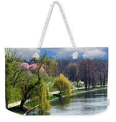 Spring At The Lake Weekender Tote Bag by Judi Saunders
