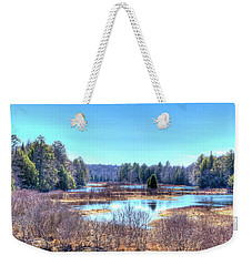 Weekender Tote Bag featuring the photograph Spring Scene At The Tobie Trail Bridge by David Patterson