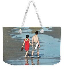 Spring Beach Walk  Weekender Tote Bag by Christy Ricafrente