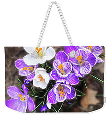 Weekender Tote Bag featuring the photograph Spring Beauties by Terri Harper