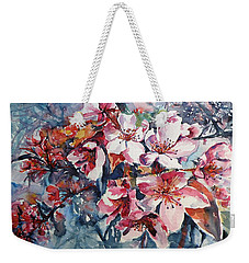 Weekender Tote Bag featuring the painting Spring Beauty by Kovacs Anna Brigitta