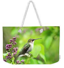 Spring Beauty Ruby Throat Hummingbird Weekender Tote Bag
