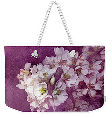 Weekender Tote Bag featuring the painting Spring Blooms by Ann Powell