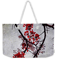 Spring Bloosom In Maldives. Flamboyant Tree II. Japanese Style Weekender Tote Bag
