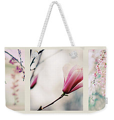 Weekender Tote Bag featuring the photograph Spring Blossom Triptych by Jessica Jenney