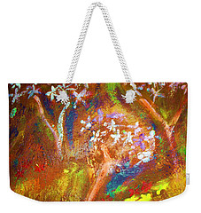 Weekender Tote Bag featuring the painting Spring Blossom by Winsome Gunning