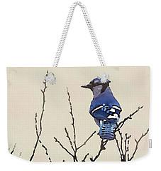 Spring Bluejay Weekender Tote Bag