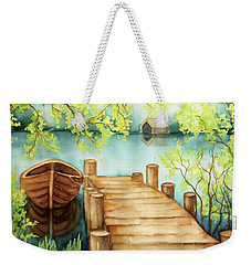 Spring Boat Weekender Tote Bag