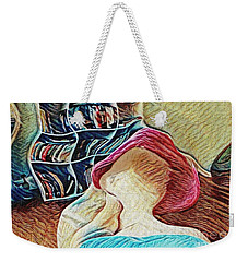 Weekender Tote Bag featuring the photograph Spring Bonnet by Kathie Chicoine
