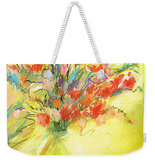Weekender Tote Bag featuring the painting Spring Bouquet by Frances Marino