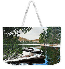 Weekender Tote Bag featuring the painting Spring Breakup by Kenneth M Kirsch