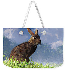 Spring Bunny Weekender Tote Bag by Daniel Eskridge