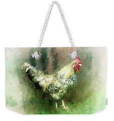 Weekender Tote Bag featuring the digital art Spring Chicken by Lois Bryan