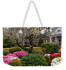 Weekender Tote Bag featuring the photograph Spring Color by Linda Brown