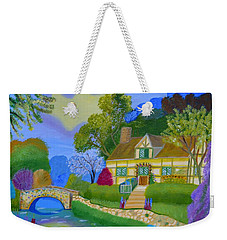 Spring Cottage Weekender Tote Bag