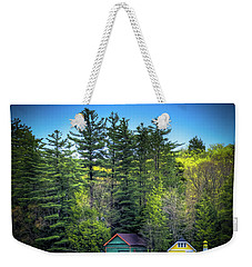 Spring Day At Old Forge Pond Weekender Tote Bag by David Patterson