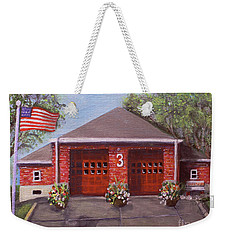 Spring Day At Willow Fire House Weekender Tote Bag by Rita Brown