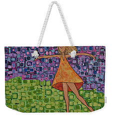 Weekender Tote Bag featuring the painting Spring by Donna Howard
