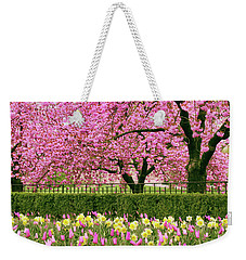 Weekender Tote Bag featuring the photograph Spring Extravaganza by Jessica Jenney