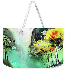 Weekender Tote Bag featuring the painting Spring Fall by Anil Nene