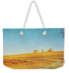 Weekender Tote Bag featuring the digital art Spring Farm And Fields by Randy Steele
