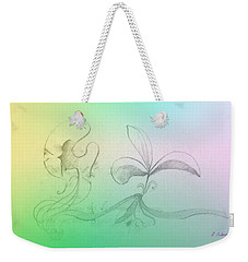 Weekender Tote Bag featuring the mixed media Spring Feelings 1 by Denise Fulmer
