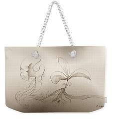 Weekender Tote Bag featuring the mixed media Spring Feelings 2 by Denise Fulmer