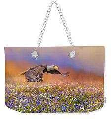 Spring Flight Bald Eagle Art Weekender Tote Bag