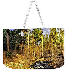Weekender Tote Bag featuring the photograph Spring Fling by Nancy Marie Ricketts