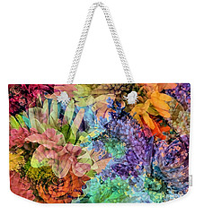 Weekender Tote Bag featuring the photograph Spring Floral Composite  by Janice Drew