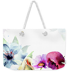 Spring Floral Background Weekender Tote Bag