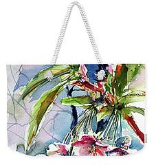 Weekender Tote Bag featuring the painting Spring Flower by Kovacs Anna Brigitta