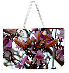 Weekender Tote Bag featuring the photograph Spring Flowers by Chris Mercer