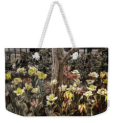 Weekender Tote Bag featuring the photograph Spring Flowers by Joann Vitali