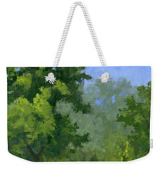 Weekender Tote Bag featuring the painting Spring Foliage by David King