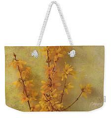 Spring Forsythia Weekender Tote Bag by Catherine Alfidi