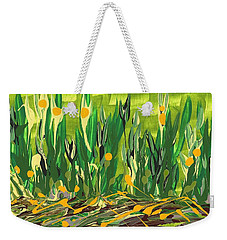 Weekender Tote Bag featuring the painting Spring Garden by Holly Carmichael