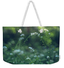 Weekender Tote Bag featuring the photograph Spring Garden Scene #1 by Gene Garnace