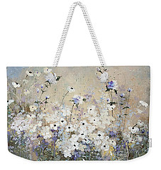 Weekender Tote Bag featuring the painting Spring Gardens by Laura Lee Zanghetti