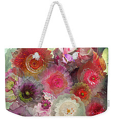 Weekender Tote Bag featuring the photograph Spring Glass by Jeff Burgess