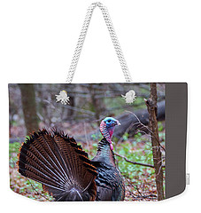Weekender Tote Bag featuring the photograph Spring Gobbler by Bill Wakeley