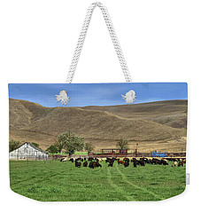 Weekender Tote Bag featuring the photograph Spring Grazing by Donna Kennedy