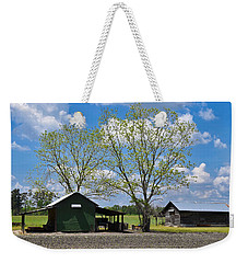 Weekender Tote Bag featuring the photograph Spring Green by Linda Brown