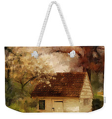 Weekender Tote Bag featuring the digital art Spring House In The Spring by Lois Bryan