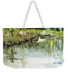 Weekender Tote Bag featuring the painting Spring Impression by Kris Parins
