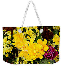 Weekender Tote Bag featuring the photograph Spring In Dallas by Diana Mary Sharpton