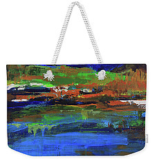 Weekender Tote Bag featuring the painting Spring In High Country by Walter Fahmy
