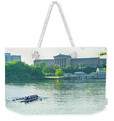 Weekender Tote Bag featuring the photograph Spring In Philadelphia - Rowing Crew by Bill Cannon