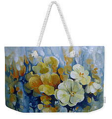 Weekender Tote Bag featuring the painting Spring Inflorescence by Elena Oleniuc